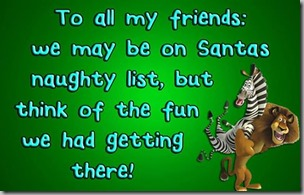 be on naughty list