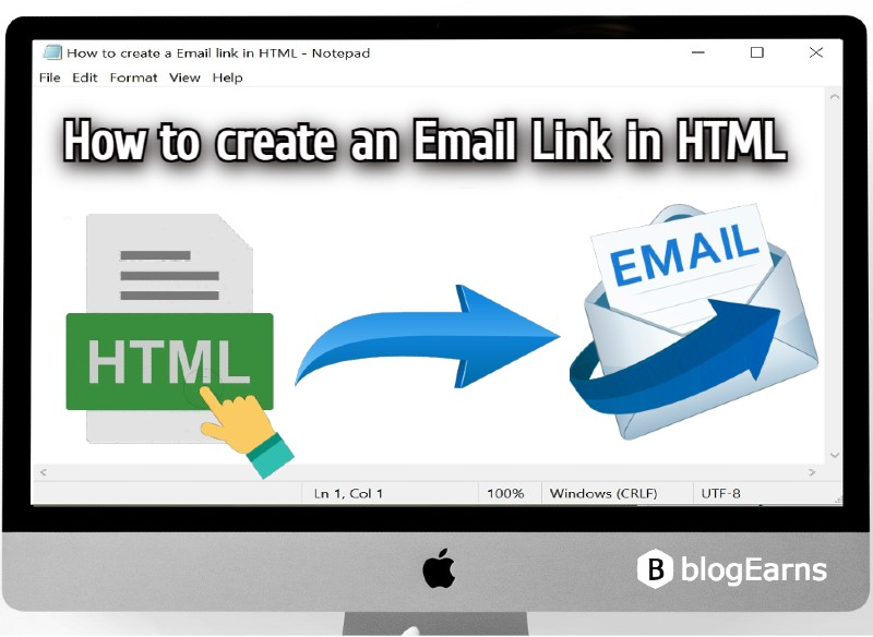 How to create an email link inn HTML