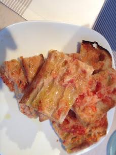 ünlü İspanyol domatesli ekmeği, La Mar Salada Barselona