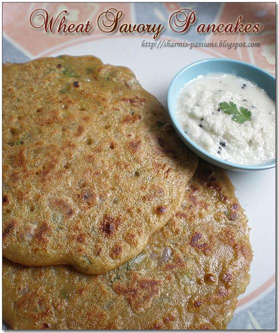 Wheat Savoury Pancakes (Kodhumai Dosai)