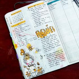 contoh weekly review pada bujo