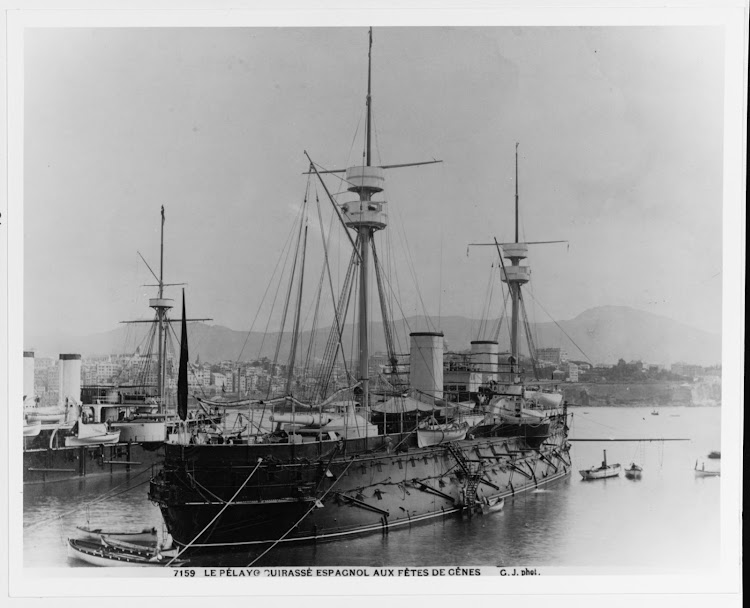 Genova. 1892. Junto al KRONPRINZESSIN ERZHERZOGIN. Foto Office of Naval Intelligence Album of Foreign Warships. U.S. Naval History and Heritage Command Photograph.tiff