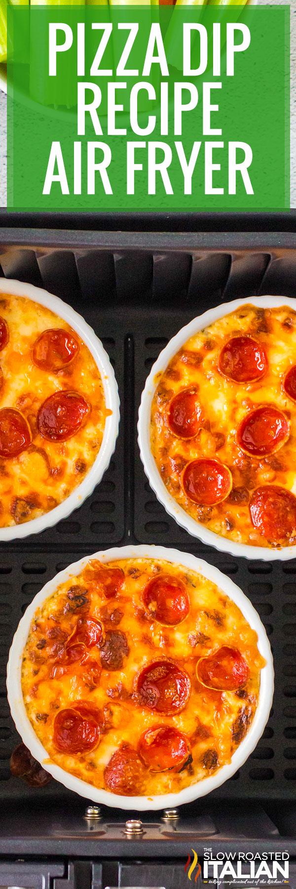 Pizza Dip Recipe (Air Fryer) closeup