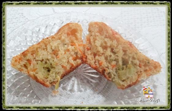 Muffin de brócolis e cenoura 2