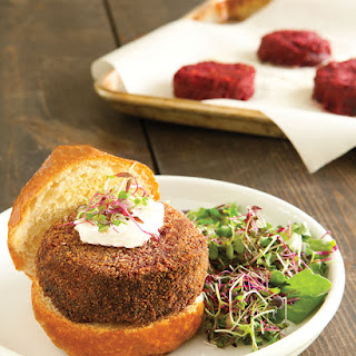 Super-Satisfying Beet and Chickpea Burgers