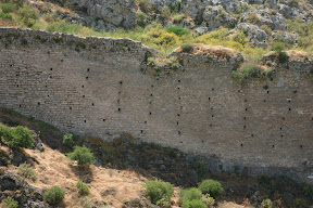 Defensive walls, Acrocorinth