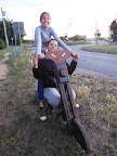 Lůca s Annčou - velké motorkářky.