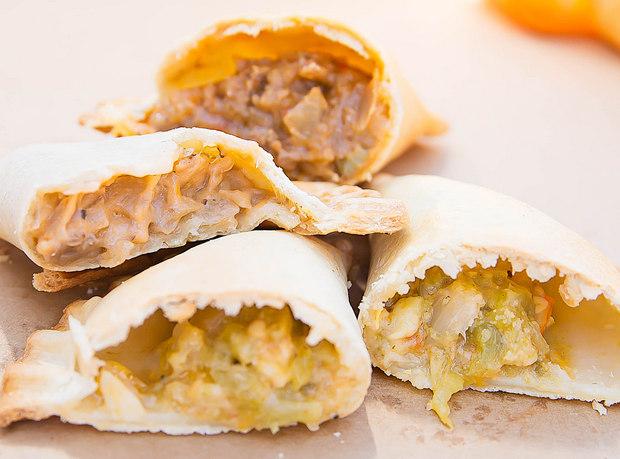 close-up photo of empanadas