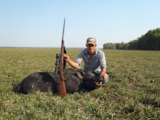 Matt with a good boar at Carmor Plains with his favourite rifle, a Steyr 300 win mag.