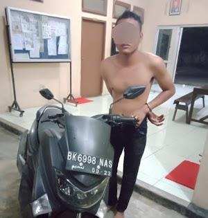 Gagal Mencuri Yamaha N-max, Pelaku Nyaris Dimassa