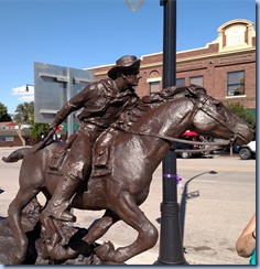 Pony Express Sculture