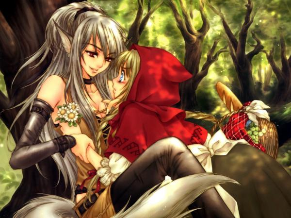 Anime Elf And A Little Girl, Elven Girls 2