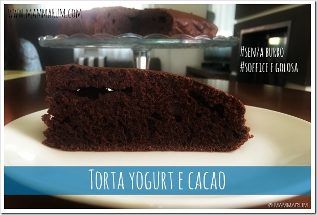 torta light yogurt cacao senza burro