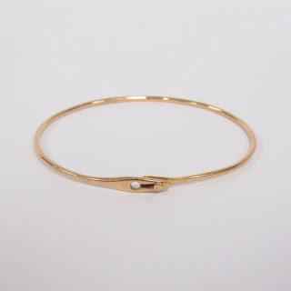 18K Gold Dinh Van Bangle Bracelet