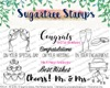 Sugartree Stamps Mr & Mrs