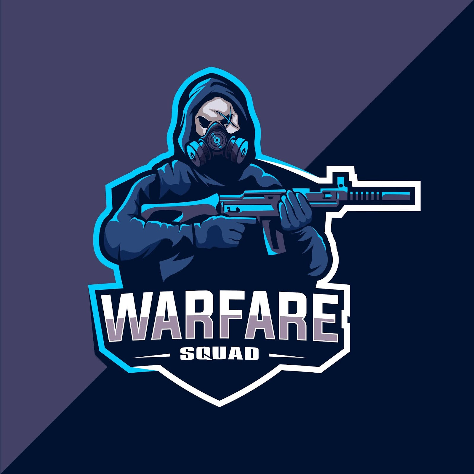 Skull Squad With Gun Mascot Esport Logo Free Download Vector CDR, AI, EPS and PNG Formats