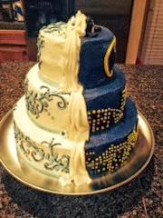 Fancy batman wedding cake