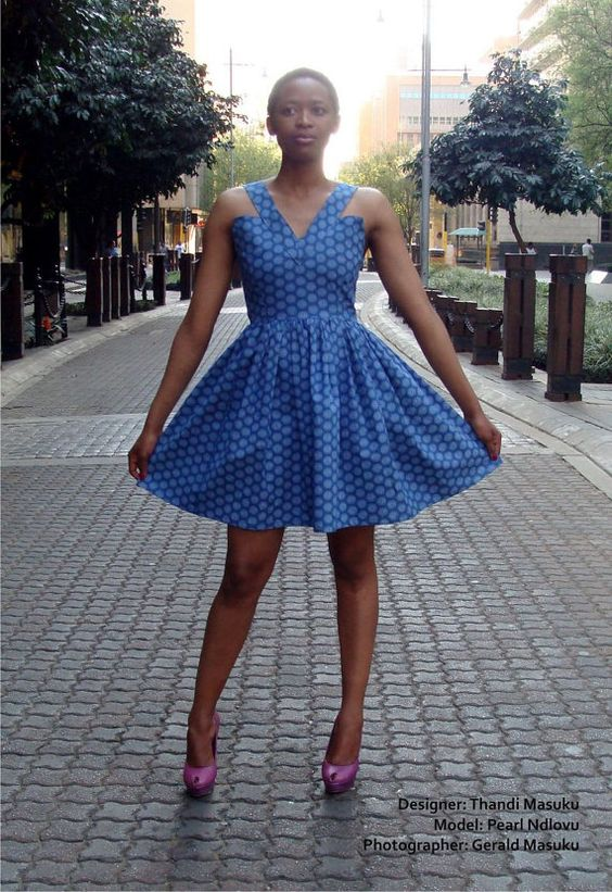 Beautiful Shweshwe Dresses Designs For Ladies 2