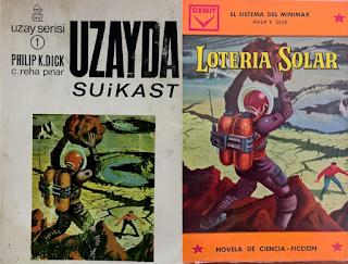"""Ed Valigurskys Motiv auf der spanischen und türkischen Ausgabe von """"Solar Lottery"""""""