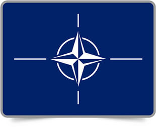 NATO framed flag icons with box shadow