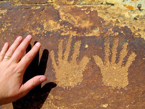 Handprint petroglyphs