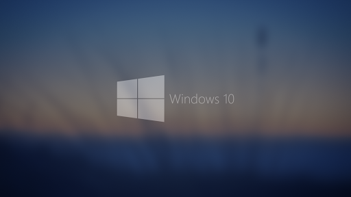 Windows 10 Blurred Background