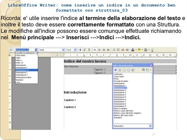 libreoffice-Spostare e copiare un testo in un documento