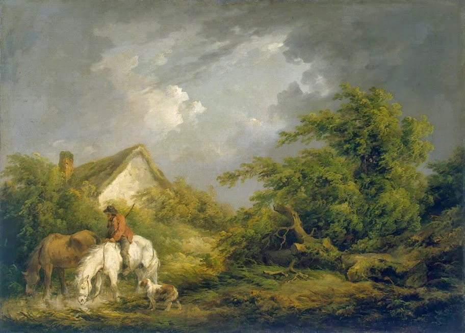 George Morland - Before a Thunderstorm