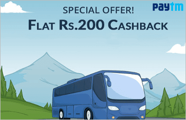Paytm - Get Rs.200 Cashback on Bus Ticket Booking