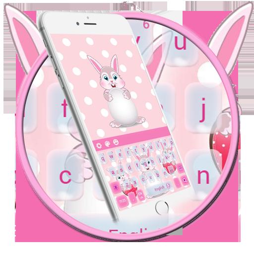Cute Rabbit Keyboard Theme