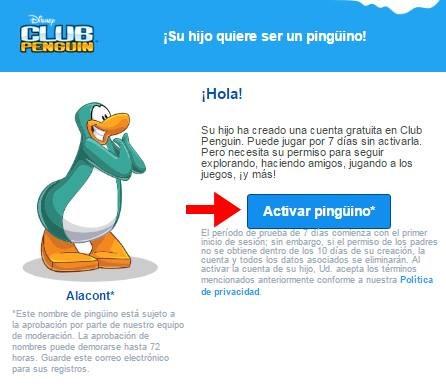 Abrir cuenta Club Penguin - 577