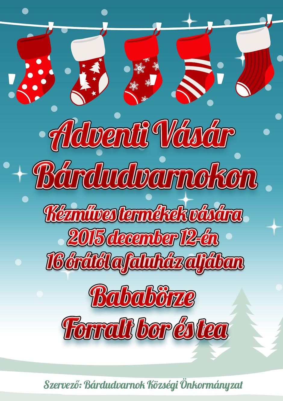Adventi vásár 2015 Bárdudvarnokon plakát