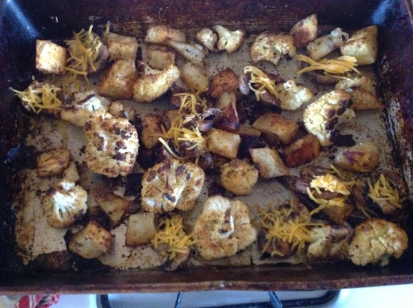 Baked Vegetables W/ Cheesy Mushrooms Recipe