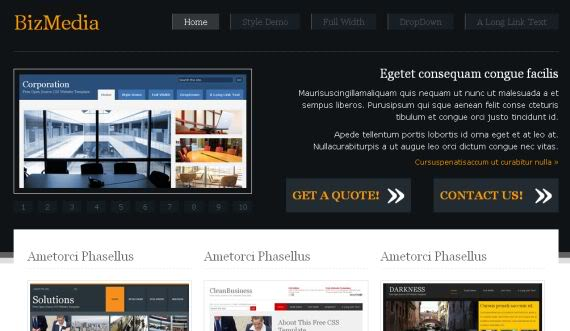 Free CSS Biz Media Ads Business Website Template