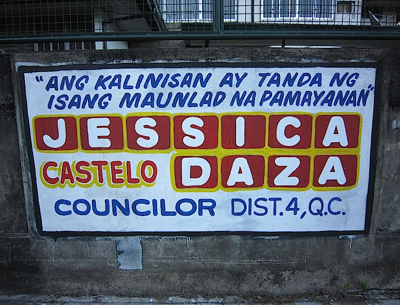 graffiti courtesy of Quezon City councilor Jessica Castelo Daza