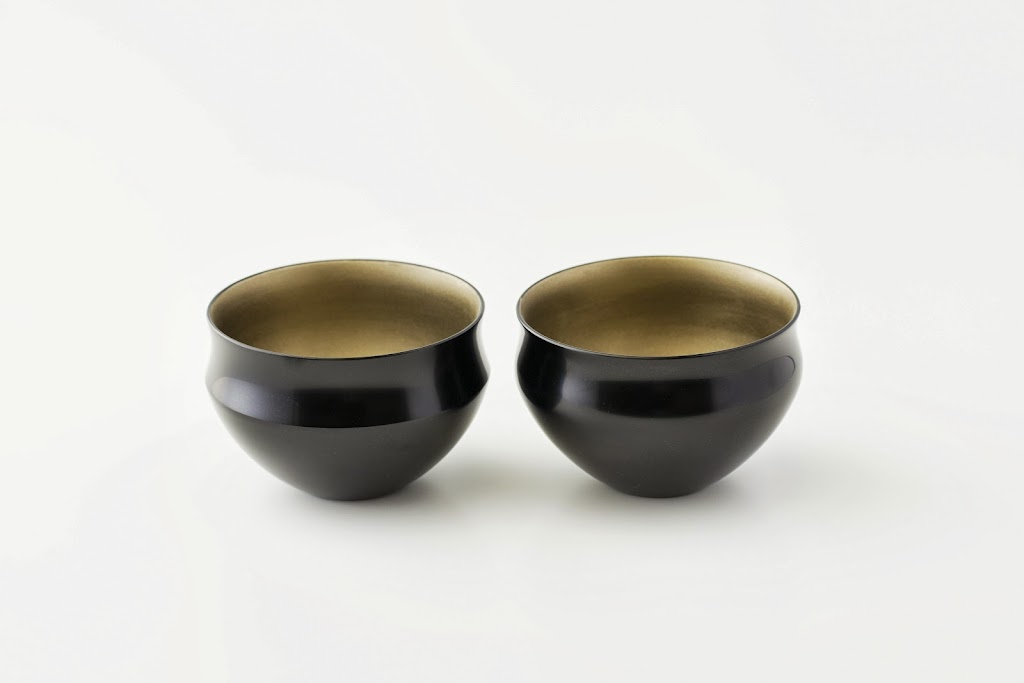 Lacquer Tea Bowl Urushi-wan (black, PI shape)