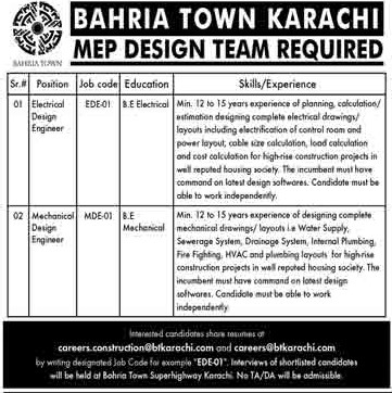 Bahria Town Jobs 2021 Apply Now