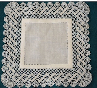 Torchon Handkerchief by Barbara Joyce