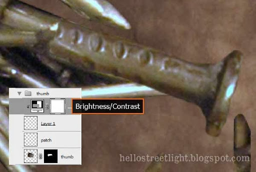Brightness and contrast adjustment layer