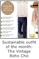 sustainable outfit of the month - vintage boho chic style