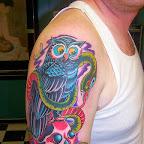 arm skull snake - tattoo designs