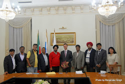 The Indian delegation with Ivan Kadoshnikov, Chairman of the Committee for Foreign Relations and Tourism, Tatarstan