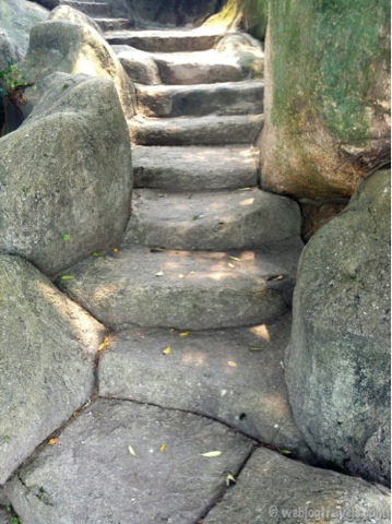 Stone carved steps on Gulangyu island, China