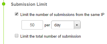 limit form submissions