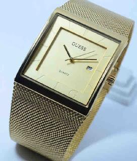 jam tangan Guess pasir date full gold