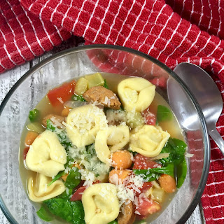 Tortellini Soup with Sausage and Spinach Recipe