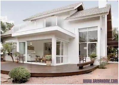 Desain rumah minimalis sederhana putih klasik modern