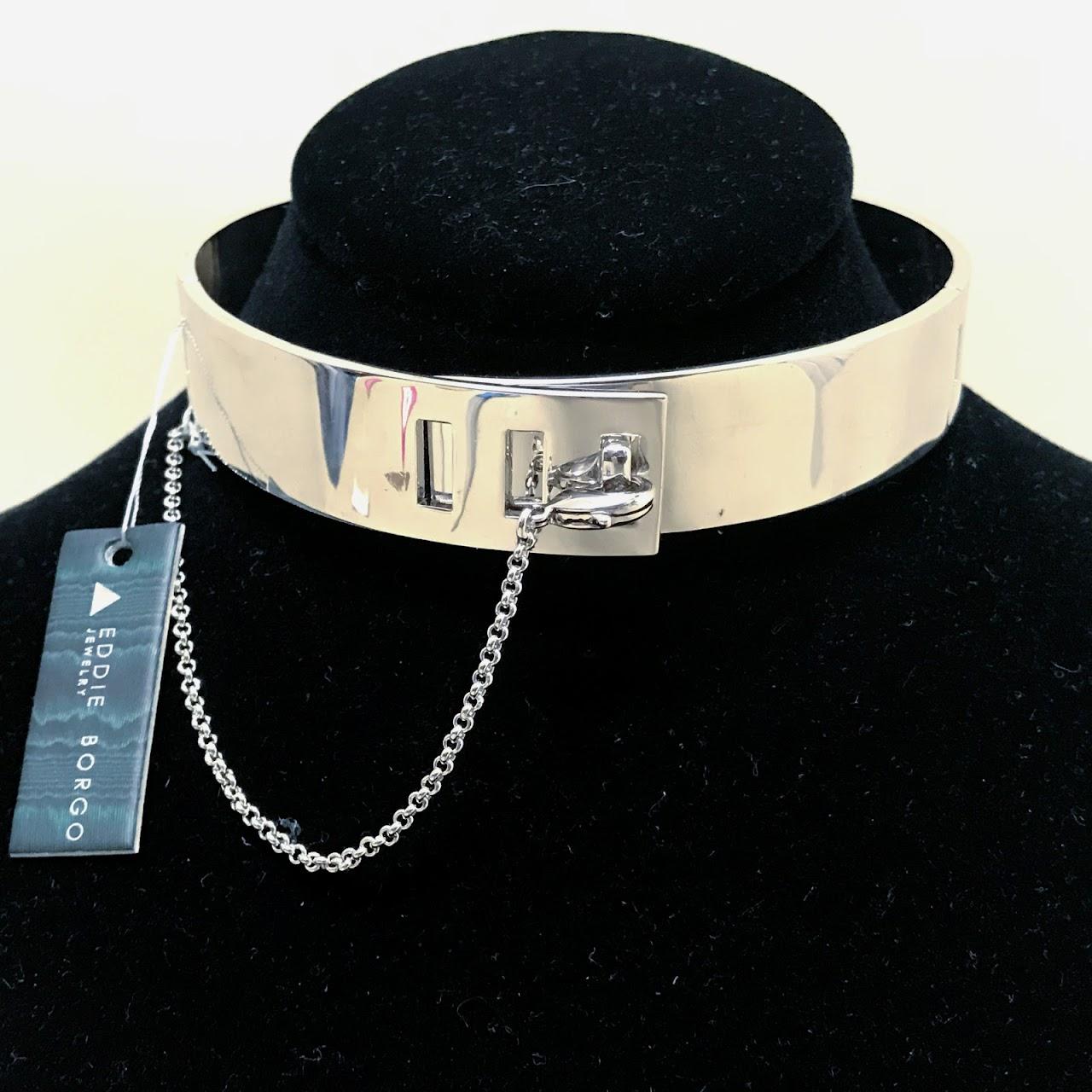 Eddie Borgo NEW Rhodium Safety Chain Choker