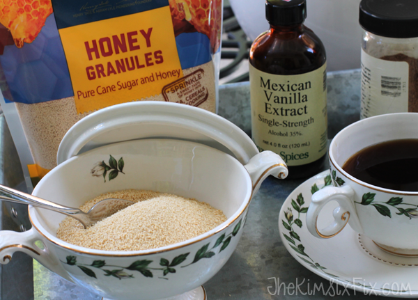 Tea party with honey granules