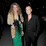 WWW.ENTSIMAGES.COM -   Julien Macdonald; Erin Morris   at  Major David Bowie at Victoria and Albert Museum, Cromwell Road, London, retrospective showcasing some of his best known stage outfits. Sponsored by Gucci March 20th 2013                                                        Photo Mobis Photos/OIC 0203 174 1069